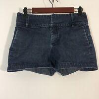 Banana Republic Shorts Women Size 2 Dark Wash Blue Cuffed Denim