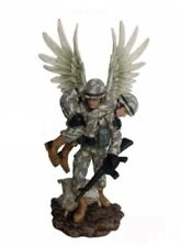 More details for soldier guardian angel figurine statue ornament military marine sculpture figure
