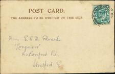 E C Montague Edwards,  'Longmoor' 162 Romford Road, Stratford  1903 RM.317