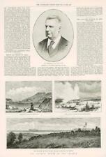 1890-antica stampa Nuova Zelanda REGIONE VULCANICA TARAWERA waikiti GEYSER (243)