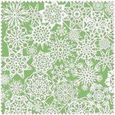 Lecien Snowflake LEC35052-60 Green Snowflake Cotton Fabric BTY  FREE US SHIP