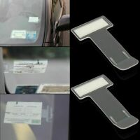 5X Car Accessory Parking Ticket Permit Card Holder Clip Adhesive Window Sticker