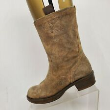 Steve Madden Brown Rough Out Suede High Ankle Fashion Boots Size 7 M Houstonn