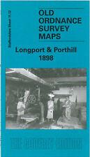 OLD ORDNANCE SURVEY MAP LONGPORT & PORTHILL 1898