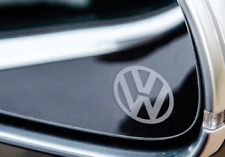 VW VOLKSWAGEN LOGO MIRROR DECALS STICKERS GRAPHICS x 50 BULK BUY IN SILVER ETCH