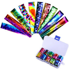 10Pcs Holographic Nail Foil Colorfull Starry Foils Nail Art Transfer Stickers