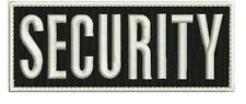 Security embroidery patch 2x5 hook white border square