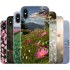 dessana Blumenwiese TPU Silikon Schutz Hülle Case Handy Tasche Cover für Apple
