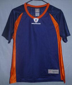 Denver Broncos NFL Pro Line Vintage Blank Jersey Women's Size Small Retail $69
