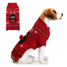 Small Medium Large Dog Puppy Christmas Reindeer Winter Coat Sweater Clothes