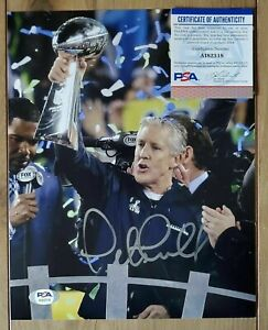 Pete Carroll signed Seattle Seahawks 8x10 autographed Photo PSA COA