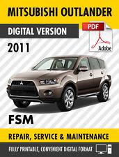 2011-2012 Mitsubishi Outlander Sport RVR Factory Repair Service Manual MSCD-017B