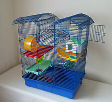 Hamster Large Cage House Tube 3 lvls Wheel Mouse Gerbil Tower Water Bottle Pet