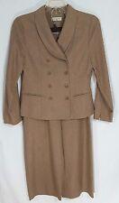 Amanda Smith Dresses Taupe Herringbone Pants Suit Womens Size 10