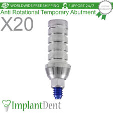 20 Anti Rotational Temporary Abutment, Dental Implant, Prosthetics, Internal Hex