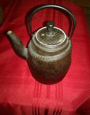 Antique Cast Iron SIGNED ASIAN/Japanese TEAPOT Rustic Primitive Piece