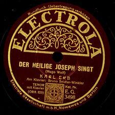 Karl Erb-tenore-con 2 canzoni di Hugo Wolf: il Santo Joseph canta s9776