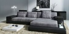 LForm Wohnlandschaft Couch Big XXL Sofa Leder Polster Ecke Garnitur Stoff Textil