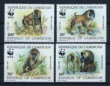 Cameroun WWF 1988 Monkeys Wild Animals set  clean MNH