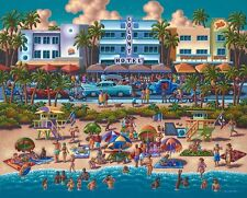 Jigsaw puzzle Explore America South Beach Florida NEW 500 piece Made in USA