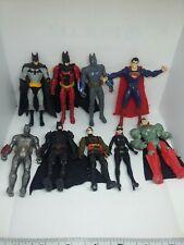 Dc superheroes Batman superman cat woman catwoman robin movie 3.75 figure lot