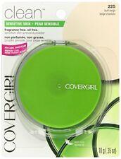 2 CoverGirl Clean Sensitive Skin Pressed Powder Buff Beige (W) 225, 0.35-Ounce