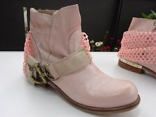 BIONDINI SHOES Damen Schuhe Stiefeletten Leder Gummizug Rosa Italy Gr.36 TOP