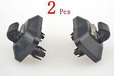 2pcs Inner Sun Visor Hook Clip Black 8U0857562A For Audi A1 A3 A4 A5 Q3