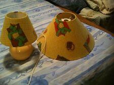 ensemble lampe de chevet en céramique + abat-jour plafonnier FRANKLIN LA TORTUE