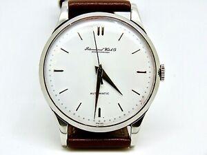 IWC 36mm. International Watch Company Vintage Steel Automatic Men Watch 1960's