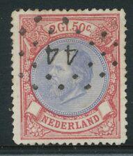 FL. 2,50 WILLEM III, NR. 29  PRACHT EX., MOOI GECENTREERD, PUNTST.44    Z789