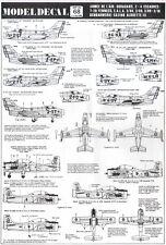 NEW 1:72 Modeldecal 68 MD-450 Ouragan / T-28A Trojan Fennec / Alouette III