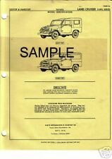 THRU 1974 TOYOTA LANDCRUISER FJ40L FJ 40 L BODY PARTS LIST CRASH SHEETS MFRE