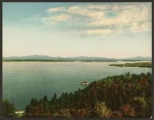 Attraverso il lago da Hotel Champlain NY A4 FOTO STAMPA