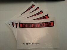 "7.5""x5.5"" Packing List Enclosed Shipping Invoice Receipt Envelopes Pouches 100Ct"