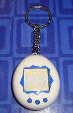 LAST 1 > Mini Tamagotchi Connection White Blue Buttons Electronic Keychain