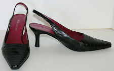 Naturalizer sling back black shoes