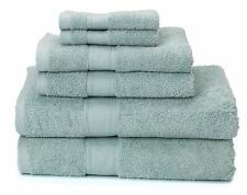 Premium Bamboo Cotton 6-Piece Towel Set ((Duck Egg)
