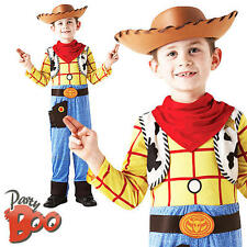 Deluxe Woody Age 5-6 Child Fancy Dress Cowboy Disney Toy Story Boy Kids Costume