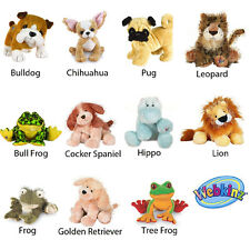 Webkinz Plush Lot/11 Dogs Tree Frog Leopard Hippo Bull Frog  Lion Lil'Kinz  Used