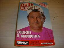 TELE POCHE 1064 30.06.1986 COLUCHE CHAMBERLAIN BRUEL BALAVOINE HALLIDAY