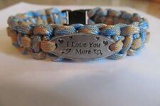 I Love You More Charm Paracord Bracelet - handmade