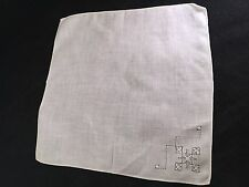Vintage Ladies' White Drawnwork Hankie/Handkerchief