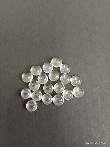 50 Pcs Lot Natural White Topaz 15mm Round Cabochon Loose Gemstone