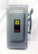 Square D 100 Amp 240 Vac 3 Pole Fusable Enclosed Switch