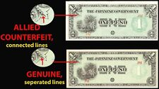 * ALLIED COUNTERFEIT * PHILIPPINES JAPANESE GOVERNMENT PESO P-106 1942 BANKNOTE