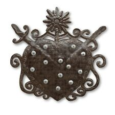 Voodoo Heart, Haitian Religious Handcrafted Metal Art, Limited Edition 16x16
