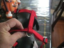 BRIGHT RED SMALL PUPPY DOG HARNESS
