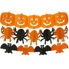 Halloween Paper Hanging String Garland Party Prop Decoration Pumpkin Bat Spider
