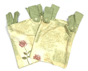 Waverly Rue d' Orleans Discontinued Valances Curtains 2 HTF Green Yellow RARE